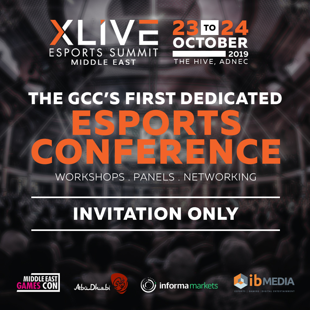 XLIVE ESPORTS SUMMIT ABU DHABI – OCTOBER 23/24, 2019